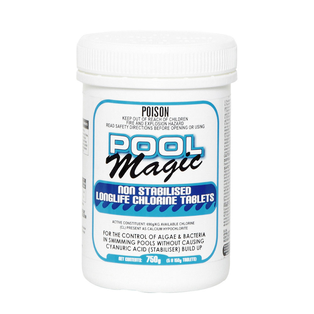 Pool Magic Longlife Non Stabilised Chlorine Tablets (5x150g ...